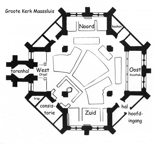 plattegrond groote kerk maassluis